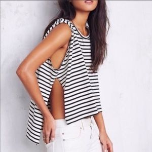 Free People We the Free Madness Stripe Muscle Top